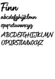 Lettertype 'Finn'