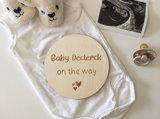 Zwangerschapsaankondiging gepersonaliseerd
