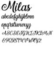 Lettertype 'Milas'