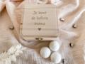 Vierkant doosje met mini bruisballen