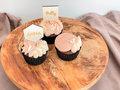 Cupcaketoppers 'vierkant' sierlijk