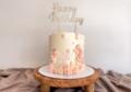 Caketopper 'Happy Birthday' sierlijk